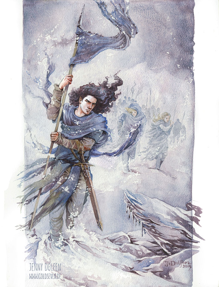 fingolfin helcaraxe painting watercolour tolkien silmarillion