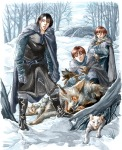 Direwolves in the snow