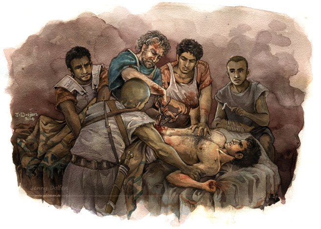 "Not from ""Cannae"": Hannibal, wounded during the siege of Saguntum."