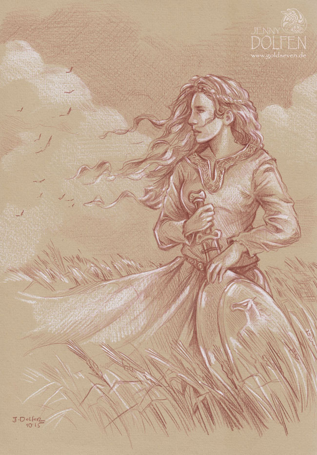 eowyn lotr art lord of the rings tolkien