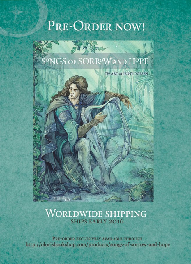 artbook jenny dolfen goldseven silmarillion tolkien fantasy watercolour