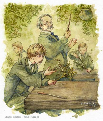 A Herbology lesson